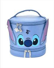 Disney Store Japan Stitch Cosmetic Bag 2 Stage Vanity Pouch Case Stitch Dresser