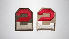 Lot of 2 WWII US Army 2nd Army Patches - No Glow - cut patch