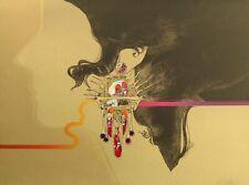 Robert Peak The Golden Earring Signed Original Lithograph woman profile OBO