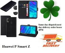 Huawei P Smart  Z TPU Leather book case Mobile Phone screen cover Black