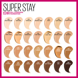 Maybelline Superstay Full Coverage Foundation Choose Your Shade New