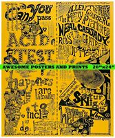 """Everything/'s going to be Fine/"""" Poster VERY RARE /""""Don/'t Worry Robert Crumb"""