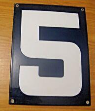 ORIGINAL PORCELAIN HOME STREET ADDRESS / GAS STATION NUMBER 5 SIGN ~  LOT J