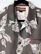 QuikSilver Sz Med Hawaiian BoardRiding Floral Short Sleeve Button Down