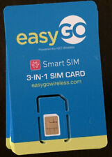 Lot of 50X easygo Sim Card Triple punched-New -for iphone, Samsung Galaxy Cheap