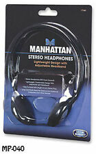 Lightweight Stereo Headphones w/ Long 6.5ft. Cable 3.5mm Plug - Manhattan 177481
