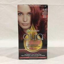 Garnier Olia Hair Color, 6.60 Light Intense Auburn, Ammonia Free Red Hair Dye