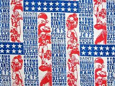 Vintage NFL Football Team Names Twin Sheet
