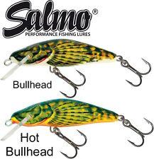 Salmo Wobbler 4,5cm 5g Set - 2 Bullhead sinkend, Raubfischköder zum Spinnfischen
