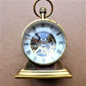 Interesting And Original Ball Table Clock, Good Function, Rare