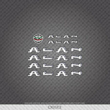 0693 Alan Bicycle Stickers - Decals - Transfers - White/Silver