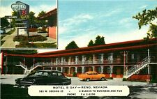 MOTEL B GAY, RENO, NEVADA, VINTAGE POSTCARD
