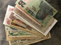 20 Pcs of Different Unique World Foreign Banknotes,Currency, UNC + Circ. Lot