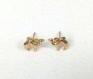 Womens 14ct / 14 Carat / 14K / 14 Karat Gold 585 Camel Stud Earrings - 0.33g