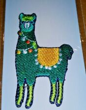 "Iron-On Llama Patch by Simplicity New/Sealed 2.38"" x 1.38"" Hat Purse Jacket Etc."