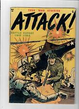 ATTACK! #1 Great grade 6.0 Gold Age (1952) war stories from Youthful!