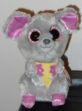 """Ty Beanie Boos ~ SQUEAKER the 6"""" Mouse w/ Cheese ~ Plush Toy ~NEW with MINT TAGS"""