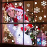 Christmas 37pcs Glitter Snowflake Clings Window Film Glass Sticker Static Dec,X