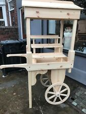 Promotional sales candy cart barrow stall event schools shop display unstained