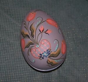 Large Ceramic Egg Box, Hand painted by Loraine Womack