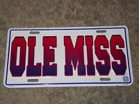OLE MISS license plate tag - University of Mississippi Rebels - new - licensed