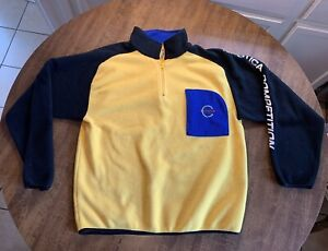 Nautica Competition Fleece Pullover Jacket Size Large. Embroidered Yellow