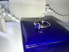 Hand Made Oval Sapphire Platinum 95 Ring - Size J 1/2