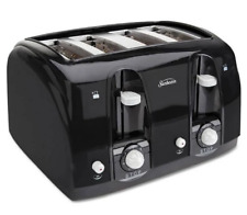 Kitchen Appliances Sunbeam 3911100 4-Slice Toaster - Black - Free Ship