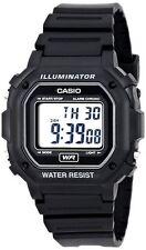 Casio Digital Chronograph Watch, Black Resin, Alarm, 7 Year Battery, F108WH-1A