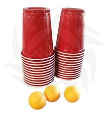 Beer Pong Cups & Balls Kit - 24 cups & 4 ping pong balls