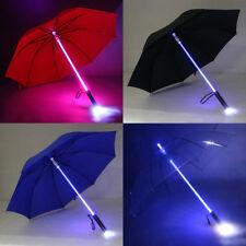 Creative Light Up Umbrella 7 Colour changing LED Flashing Lightsaber UK