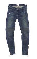 SIMON MILLER Blaine MOTO W002 Motorcycle Distressed Jeans Size 24