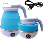 Foldable Portable Electric Kettle with Food Grade Silicone, 9 Mins Fast Water Bo