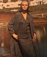 1950s Tweed Overcoat & Skirt & Jacket Suit Vintage Patons Knitting Pattern PDF