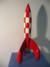 TIM und STRUPPI Rakete 2016 Kunstharz MOULINSART TINTIN 30cm NEU (L)*