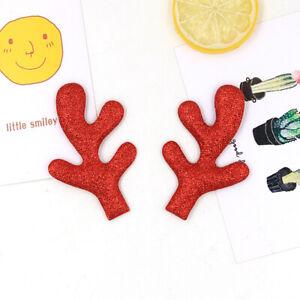 10pcs Christmas Glitter Antler Ears Ornaments Hair Headband Decor Accessories