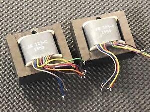 2 Vintage 80s Jensen JE-123-C audio output transformers