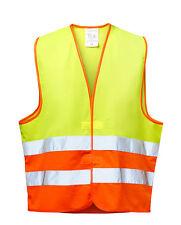 Warnweste fluoreszierend gelb/orange wicaTex® WILHELM Warnschutzweste