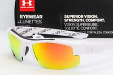 NEW UNDER ARMOUR NITRO L SUNGLASSES UA Youth Fit White / Orange Mirror lens