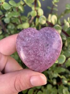 Lepidolite Heart Carved Crystal