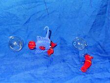 1 Fisch + 1 Seepferdchen aus Glas mit Glasschwimmer, Handarbeit, Glasfigur, Deko
