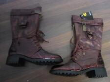Dockers traumhafte Stiefel bordeaux Gr. 36 Boots  Lack metallic  NEU