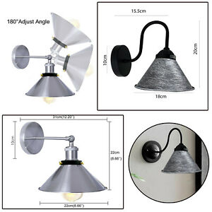 Modern Retro Wall Mounted Light Vintage Industrial Rustic Sconce Lamp Fixture
