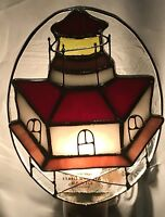 Stained Glass Lighthouse Night Light New [9009-66]