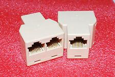 5PCS RJ45 CAT 5 6 LAN Ethernet Splitter Connector Adapter Cable Extender PC A313