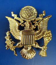 US ARMY OFFICERS FULL SIZE OFFICERS CRUSH CAP BADGE