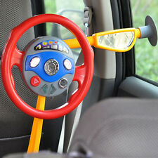 Kids Back Seat Car Steering Wheel Toys Driving Game Horn Sounds ElectronicLight