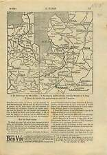 WWI Map Carte Russia Front/Lublin-chelm Vistula Bug Warsaw War 1915 ILLUSTRATION