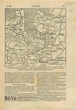 WWI Map Carte Russia Front/Lublin-chelm Vistula Bug Warsaw War 1915 ILLUSTRATION