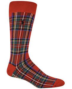 POLO RALPH LAUREN Men's Stewart Tartan Slack Socks NWT